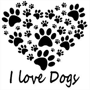 Adesivo - I Love Dogs Pets