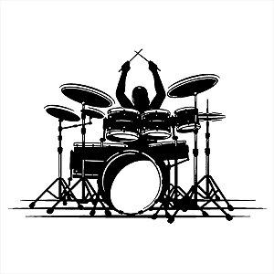 Adesivo - Baterista Música