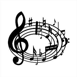 Adesivo - Notas Musicais Música