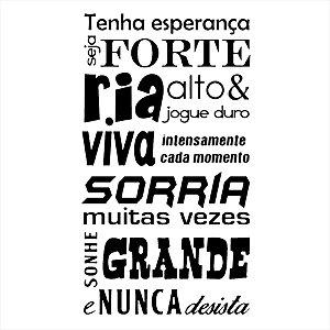 Adesivo - Frase Motivacional Seja Forte Frases
