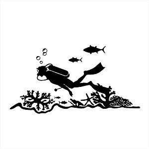 Adesivo - Mergulhador Profissões