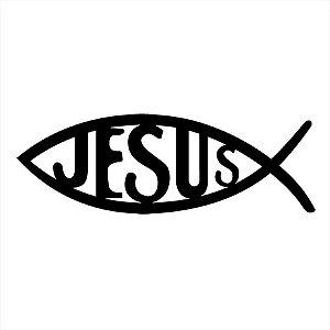 Adesivo - Peixe Jesus Religião