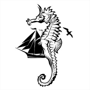 Adesivo - Cavalo Marinho Natureza