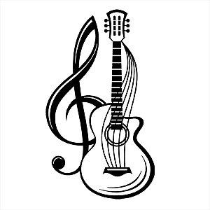 Adesivo - Violão com Clave de Sol Música