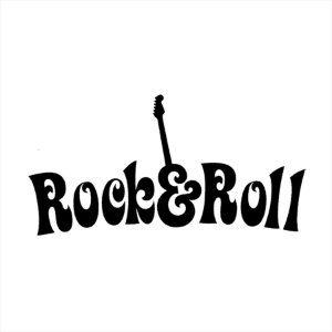 Adesivo - Rock n Roll Guitarra Música