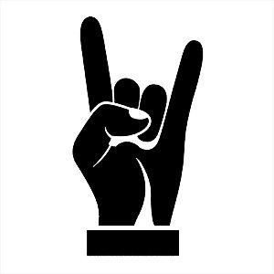 Adesivo - Rock Mão Música