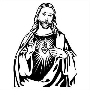 Adesivo - Jesus Cristo Coração Religião