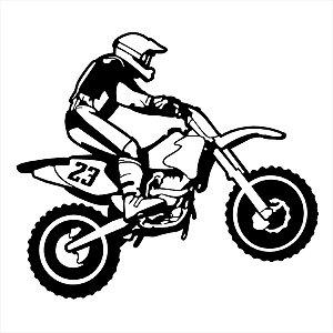 Adesivo - Moto E Motociclista Automóveis