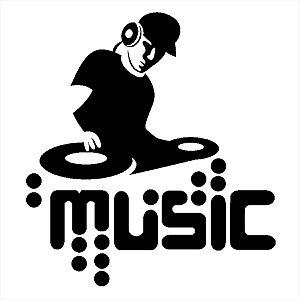 Adesivo - Dj Music Música