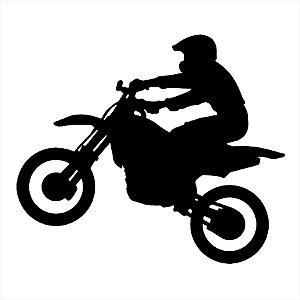 Adesivo - Moto E Motociclista Sombra Automóveis