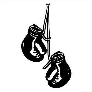 Adesivo - Luvas De Boxe Penduradas No Ar Esporte