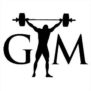 Adesivo - Gym Homem Levantando Peso Esporte