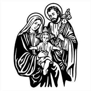 Adesivo - Jesus Maria José Sagrada Família Religião