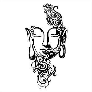 Adesivo - Buda Rosto Com Detalhes Religião