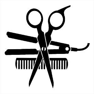 Adesivo - Cabeleireiro Tesoura Pente Prancha Chapinha Profissões