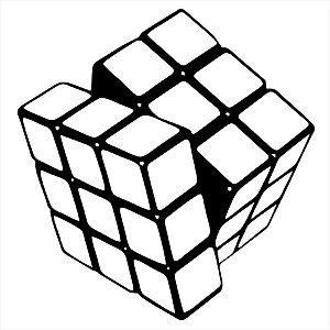 Adesivo - Cubo Mágico Rubik Esporte