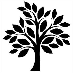 Adesivo - Árvore Com Folhas Simples Natureza