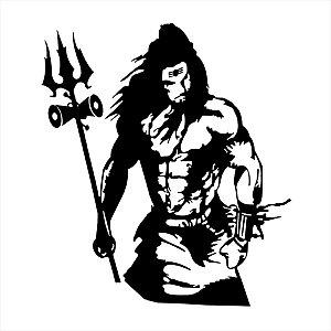 Adesivo - Rangoli God Lord Shiv Bhole Religião