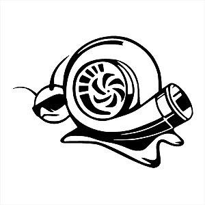 Adesivo - Caracol Com Turbo E Óculos De Sol Desenho