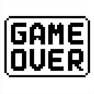 Adesivo - Game Over Com Borda Games