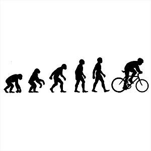 Adesivo - Evolução Do Homem Ciclista Bicicleta Bike Esporte