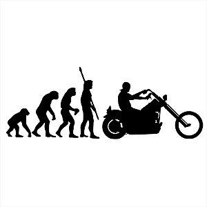 Adesivo - Evolução Do Homem Motociclista Moto Bike Esporte
