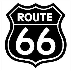 Adesivo - Usa Route 66 Placa Rota Interestadual Eua Viagem/Turismo