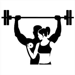 Adesivo - Musculação Homem E Mulher Esporte