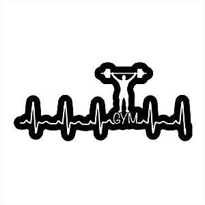 Adesivo - Gym Academia Musculação Monitor Cardíaco Esporte