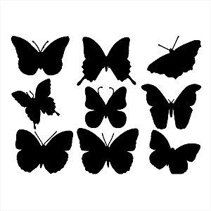 Adesivo - Sombras De Borboletas Natureza