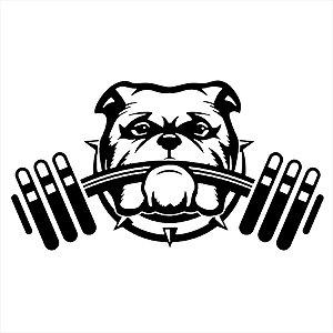 Adesivo - Bulldog Cachorro Dog Academia Peso Esporte
