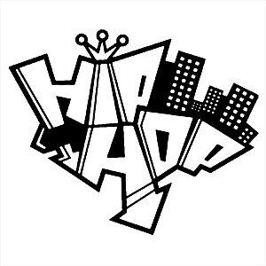 Adesivo - Hip Hop Coroa Grafite Grafitti Música