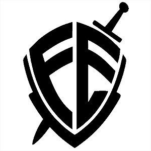 Adesivo - Fé Escudo Espada Logo Religião