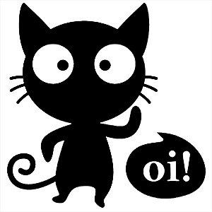 Adesivo - Gato Oi Gatinho Cat Balãozinho De Fala Pets
