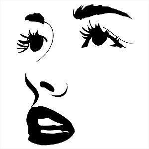 Adesivo - Olhos Nariz E Boca Rosto Mulher Pessoas