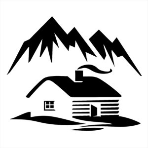 Adesivo - Casa Nas Montanhas Natureza
