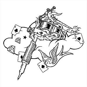 Adesivo - Desenho Abstrato Nuvem Pássaro Cartas De Baralho Diamantes Estrela Peças Outros
