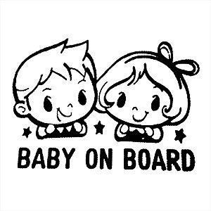 Adesivo - Baby On Board Bebê A Bordo Família