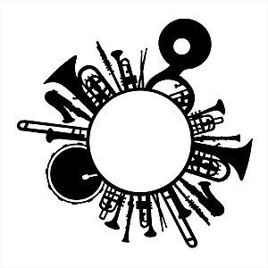 Adesivo - Instrumentos De Sofro E Percussão Em Círculo Música