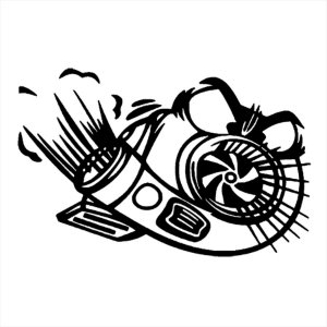 Adesivo - Turbo Com Olhos Peça De Carro Automóveis