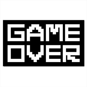 Adesivo - Game Over Pixels Games