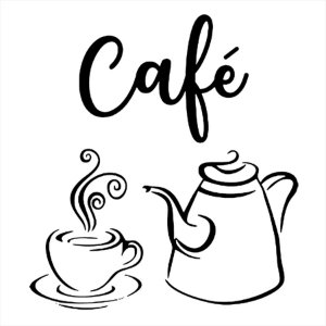 Adesivo - Café Xicara E Bule Cozinha