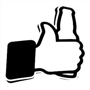 Adesivo - Facebook Mão Jóia Like Curti Cerveja Beer Placas/Sinalização