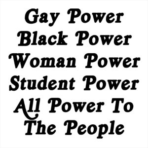 Adesivo - All Power To The People Woman Gay Black Student Sociedade