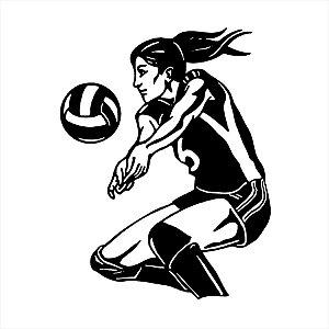 Adesivo - Jogadora De Vôlei Mulher Volleyball Player Woman Esporte