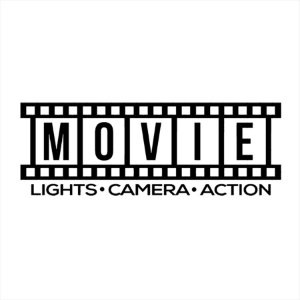Adesivo - Movie Lights Camera Action Cinema
