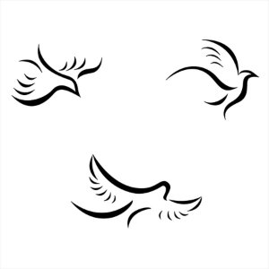 Adesivo - Pombas Doves Natureza