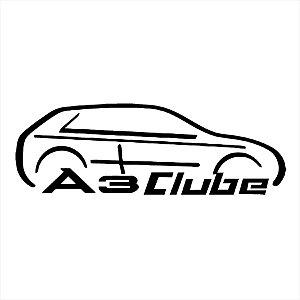 Adesivo - A3 Clube Carro Silhueta Silhouett Automóveis