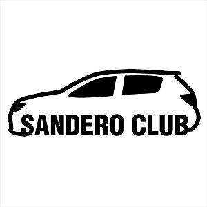 Adesivo - Sandero Club Carro Silhueta Silhouett Automóveis