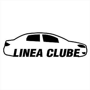 Adesivo - Linea Clube Carro Silhueta Silhouette Automóveis
